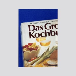 A German language cookbook. Rectangle Magnet